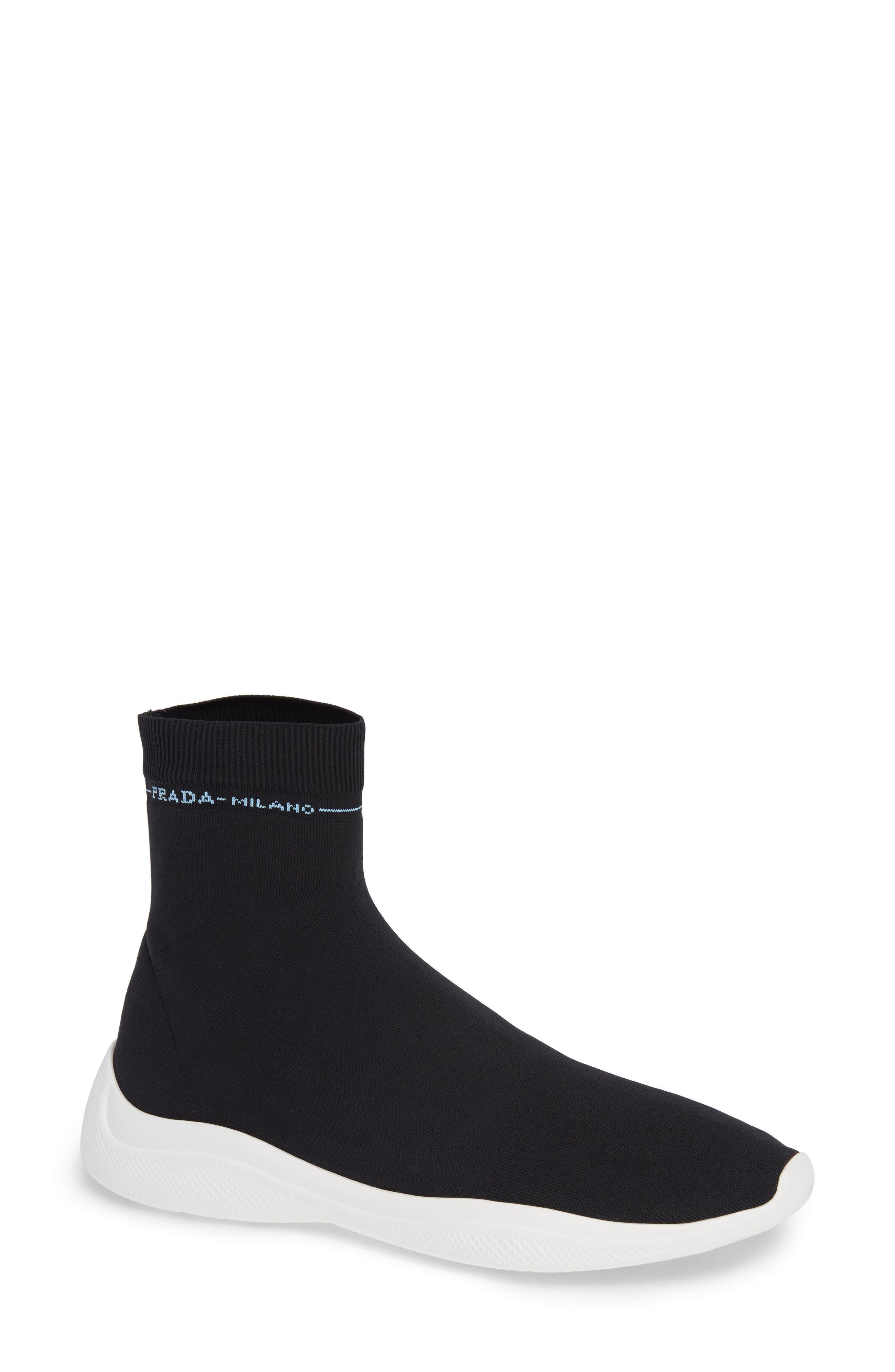 prada logo sock sneakers