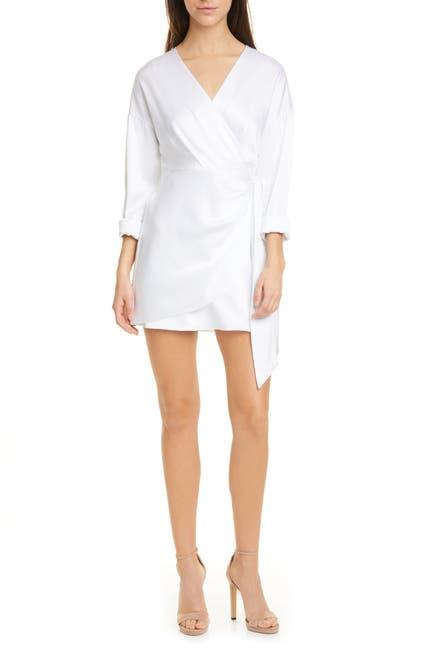 Image of alice + olivia Ophelia Faux Wrap Long Sleeve Mini Dress