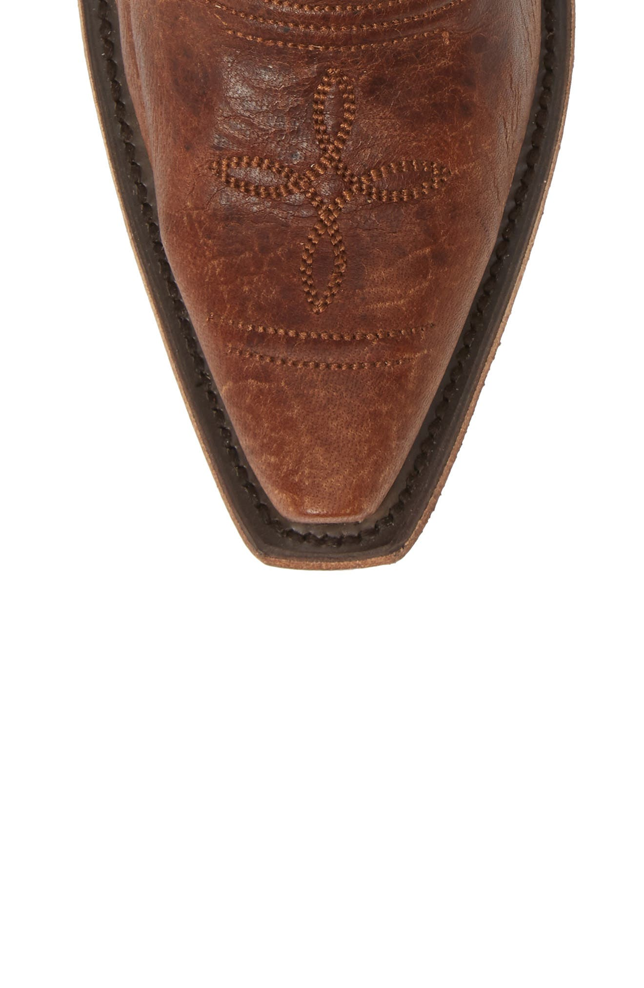 ,                             x Junk Gypsy Fringe Western Bootie,                             Alternate thumbnail 5, color,                             BROWN LEATHER