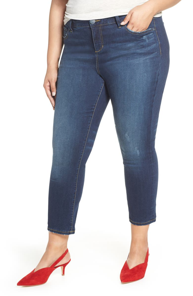 SLINK JEANS Crop Straight Leg Jeans, Main, color, SHEELA