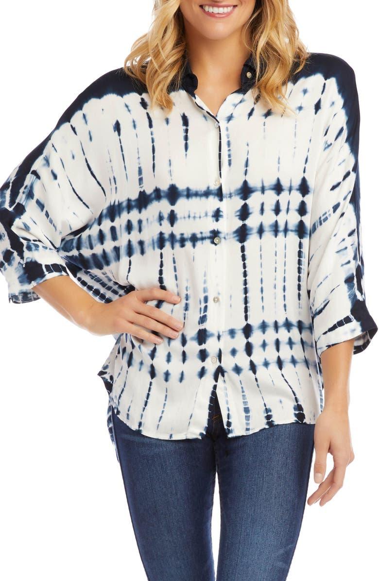 KAREN KANE Tie Dye Button Front Shirt, Main, color, TIE DYE