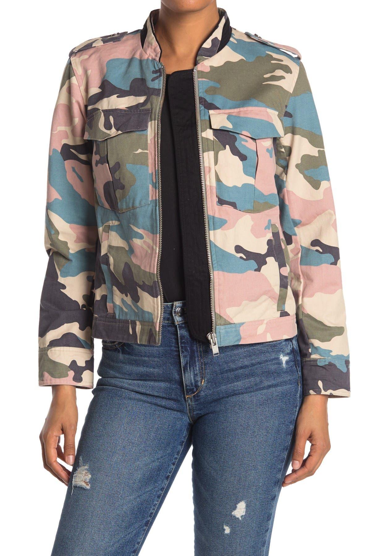 Image of Zadig & Voltaire Kavy Camo Print Jacket