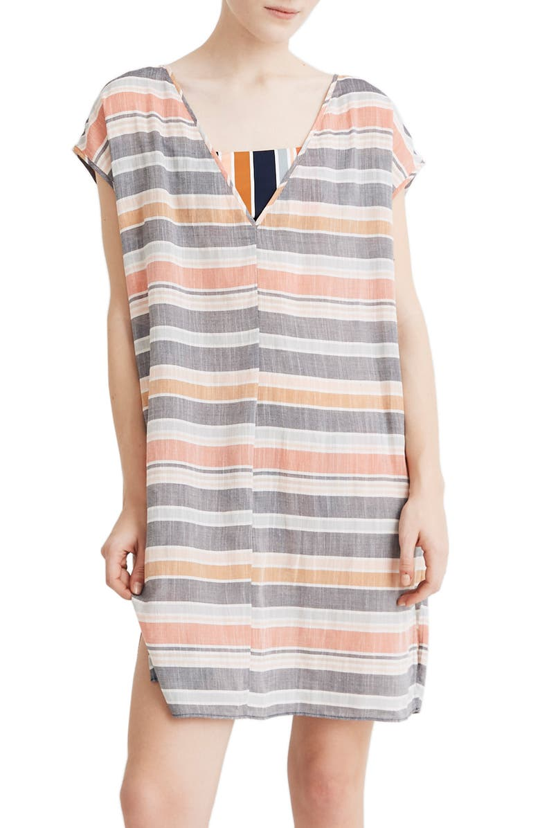 cb81ae2342 Towel Stripe Cover-Up Tunic, Main, color, DEEP NAVY