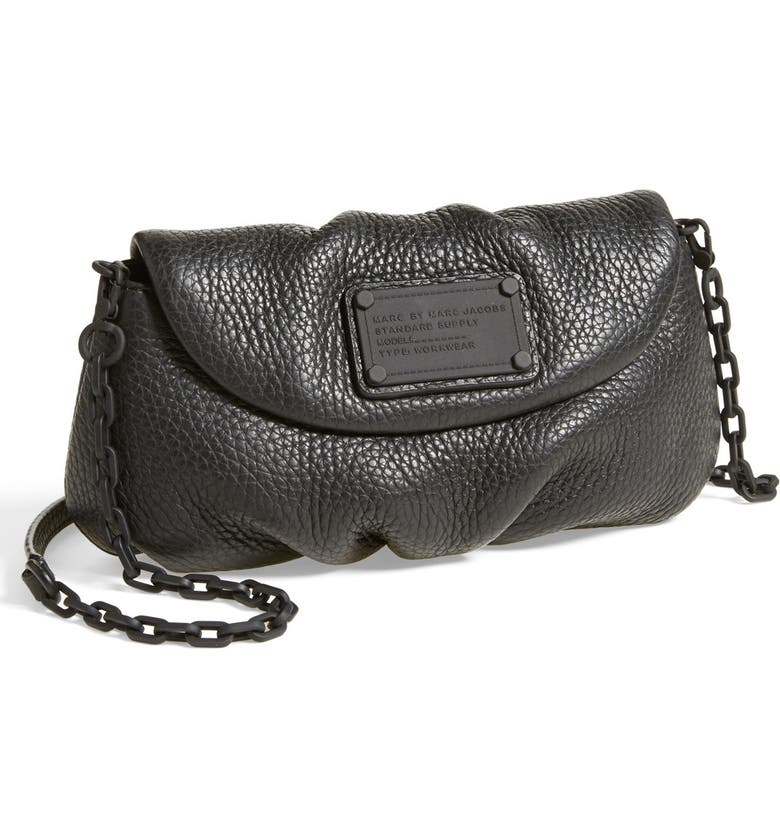 MARC JACOBS MARC BY MARC JACOBS 'Electro Q - Karlie' Leather Crossbody Bag, Main, color, 001