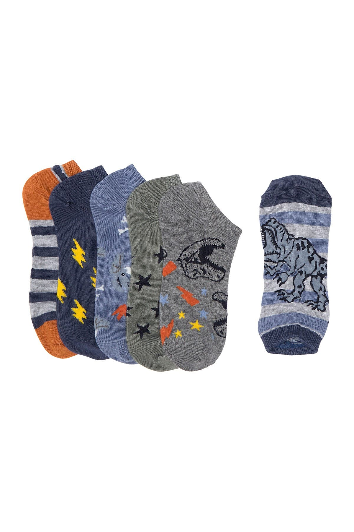 Image of Harper Canyon Dino Low Cut Socks - Pack of 6
