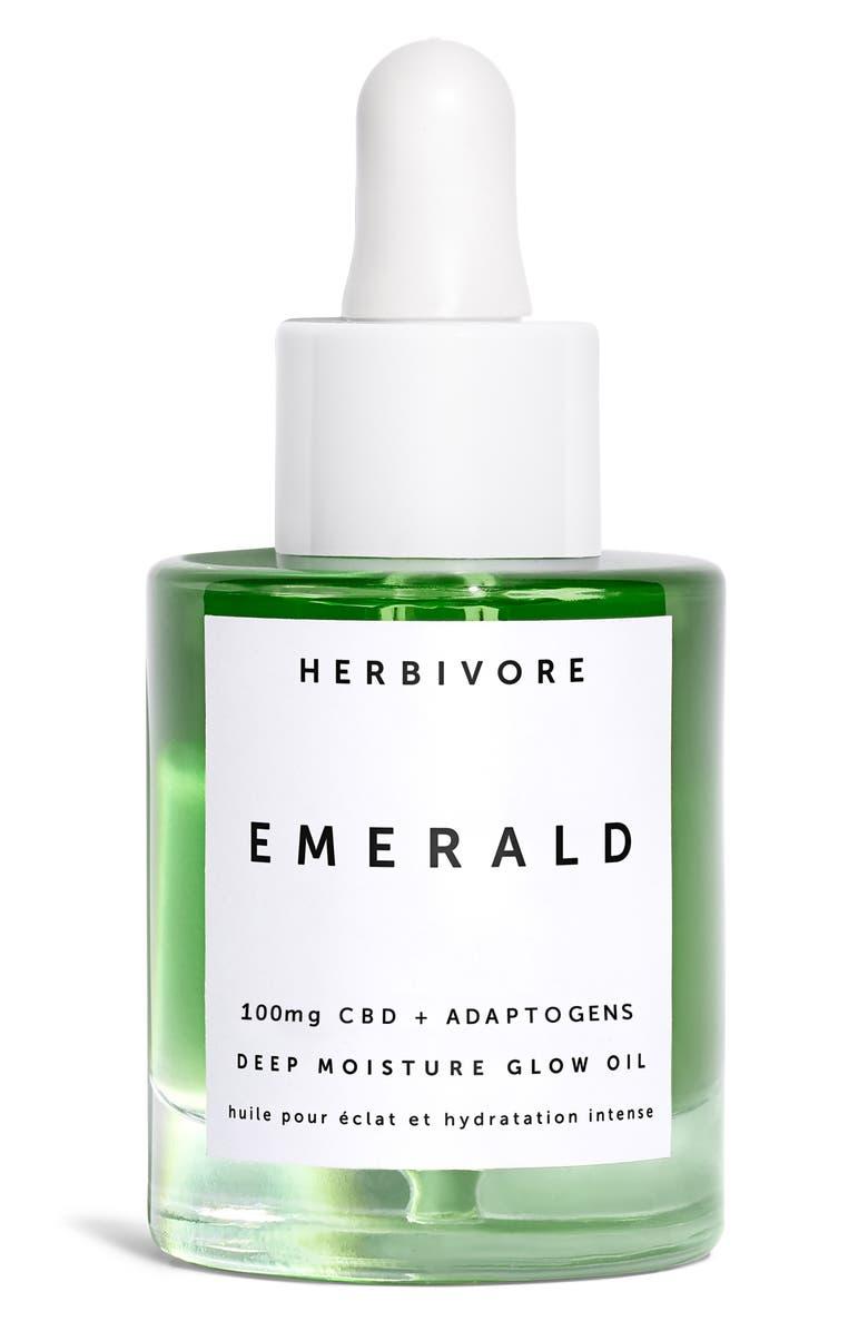 HERBIVORE BOTANICALS Emerald CBD + Adaptogens Deep Moisture Glow Oil, Main, color, NO COLOR