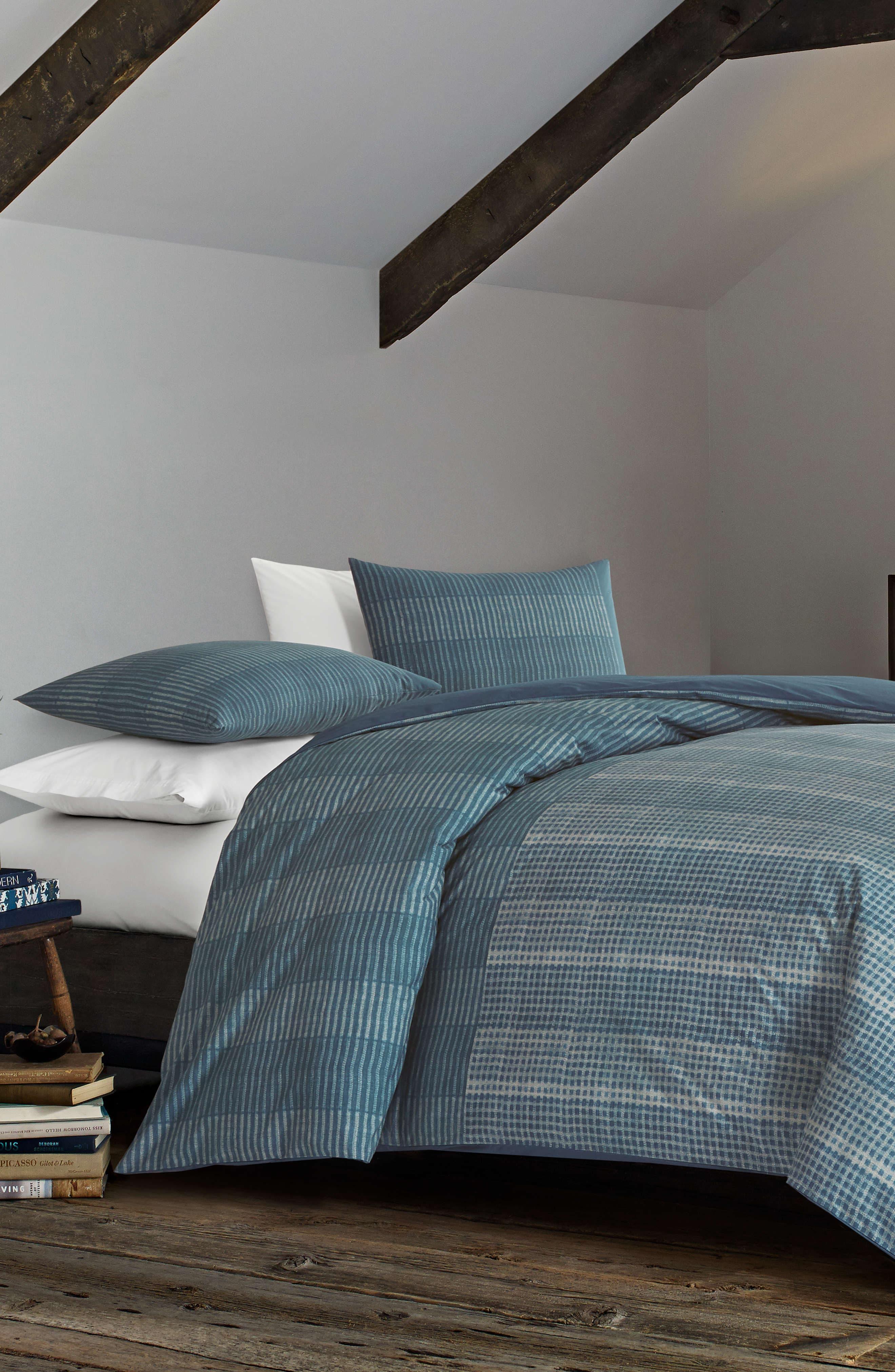 Akira Reversible Comforter Set, Main, color, NAVY