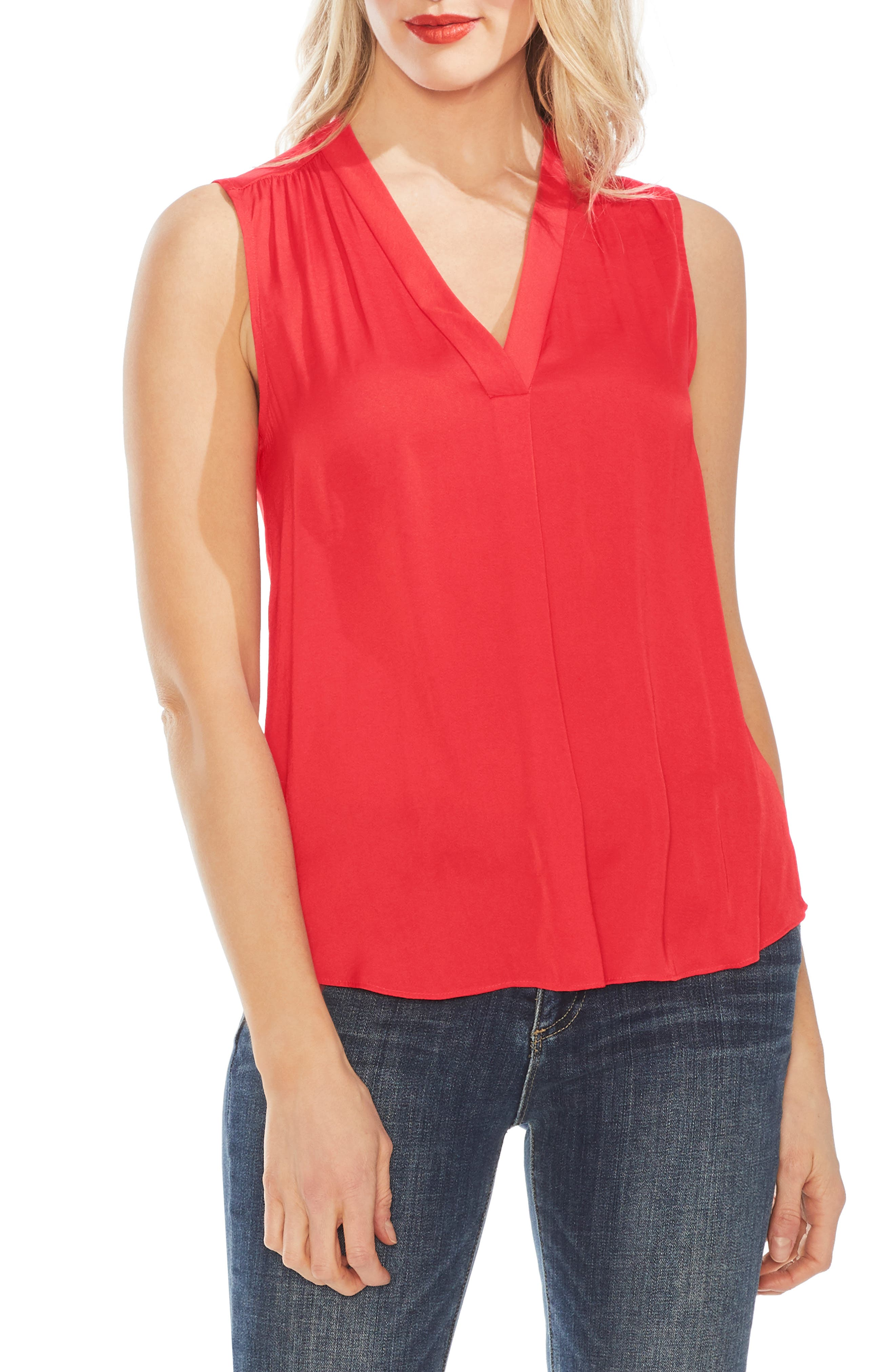 ,                             Rumpled Satin Blouse,                             Main thumbnail 54, color,                             602