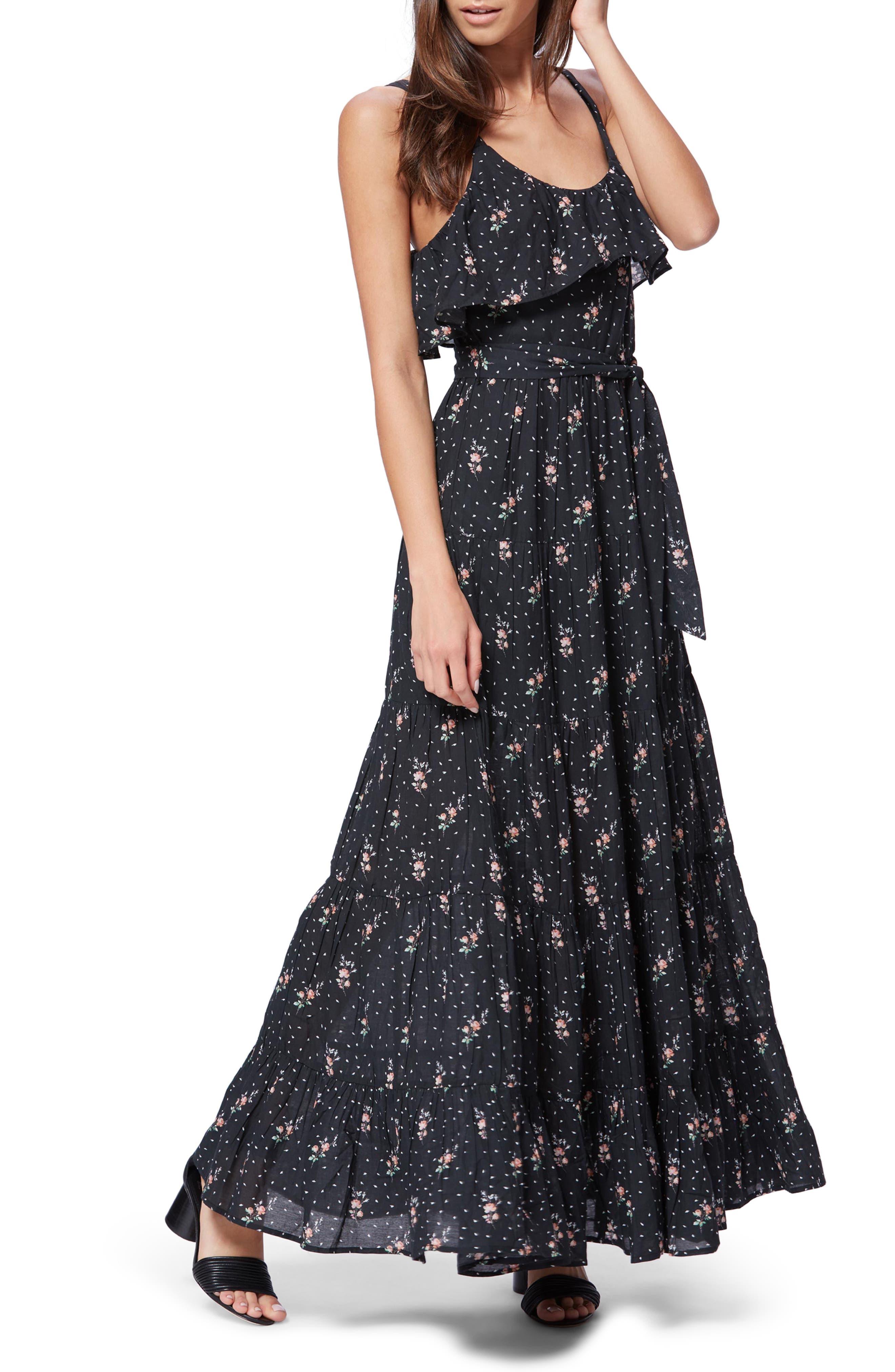 Paige Tevin Maxi Dress, Black