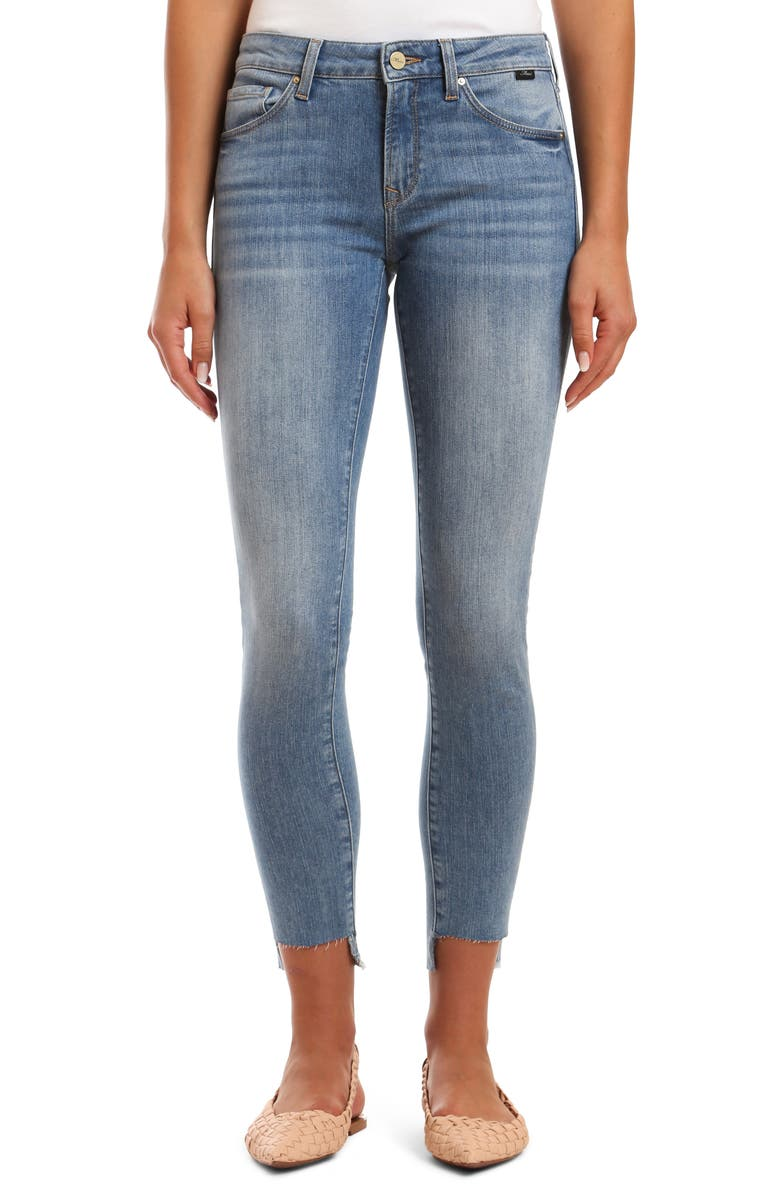 MAVI JEANS Adriana Fray Step Hem Ankle Skinny Jeans, Main, color, LIGHT FOGGY VINTAGE