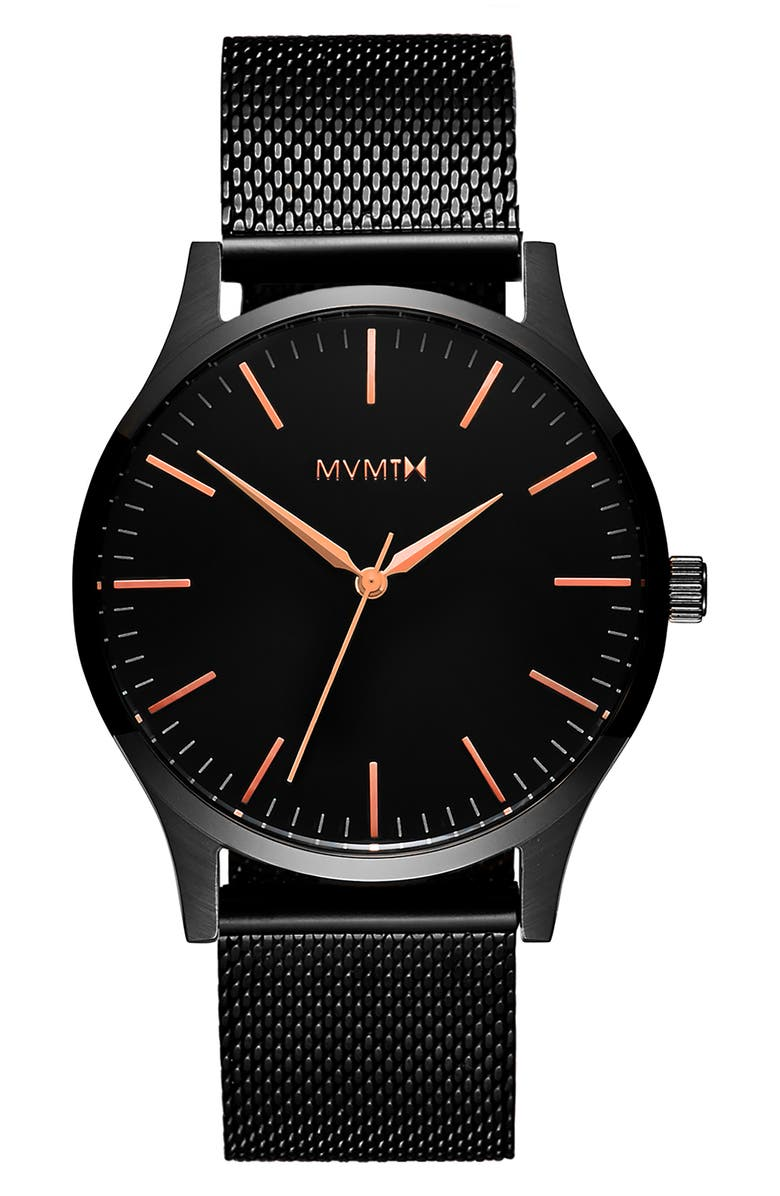 MVMT The 40 Rose Mesh Strap Watch, 40mm, Main, color, 710
