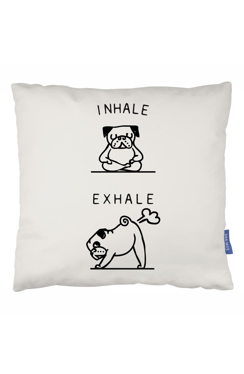 OHH DEER Inhale, Exhale Accent Pillow, Main, color, 100