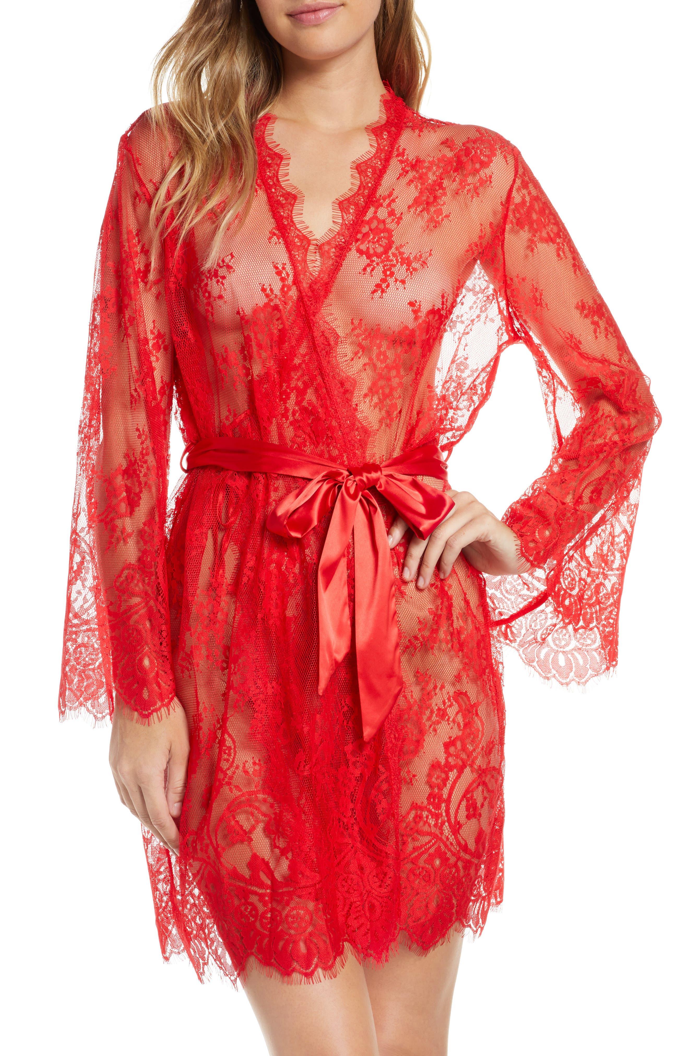 Ann Summers Saria Sheer Lace Robe