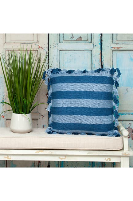 Image of Parkland Collection River Transitional Blue Throw Pillow