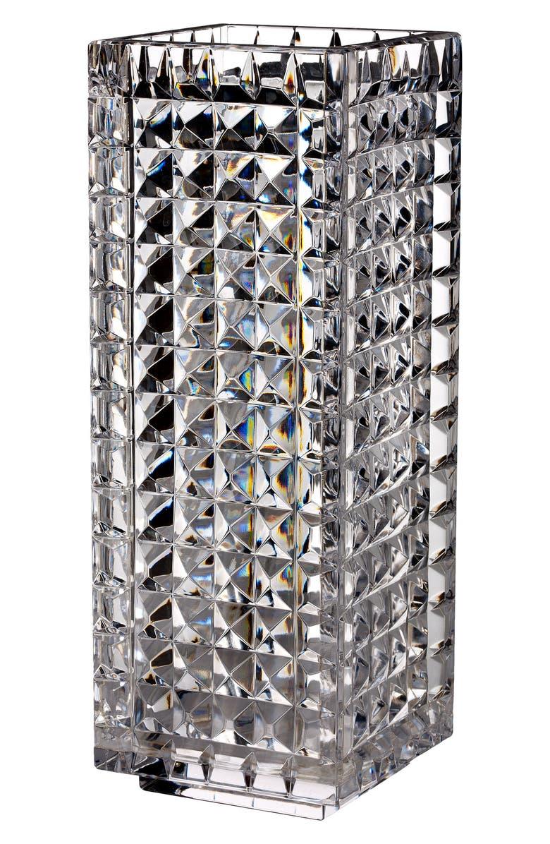 WATERFORD Fleurology by Jeff Leatham Kylie Lead Crystal Vase, Main, color, CRYSTAL