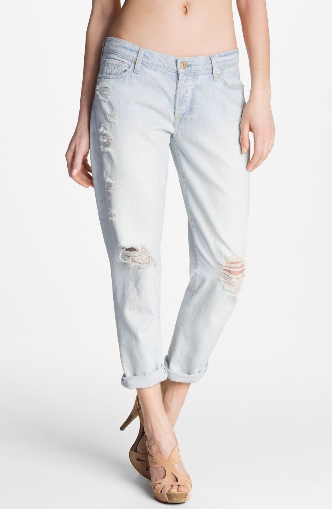 'Josephina' Destroyed Boyfriend Jeans, Main, color, 402