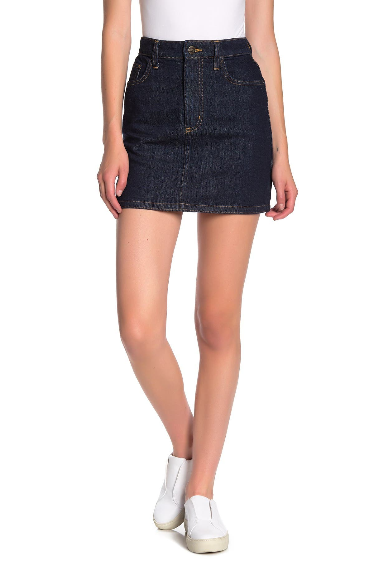 Image of LEE High Waisted Jean Mini Skirt