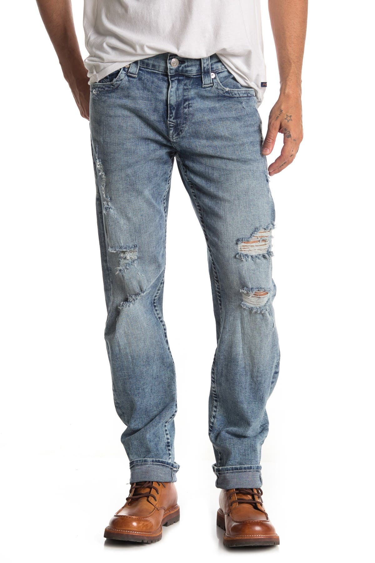 Image of True Religion Geno No Flap Distressed Jeans