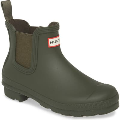 Hunter Original Waterproof Chelsea Rain Boot, Green