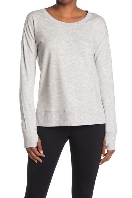 Image of 90 Degree By Reflex Brushed Long Sleeve with Side Slit
