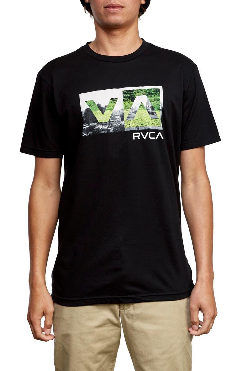 RVCA Balance Box Logo T-Shirt, Main, color, BLACK