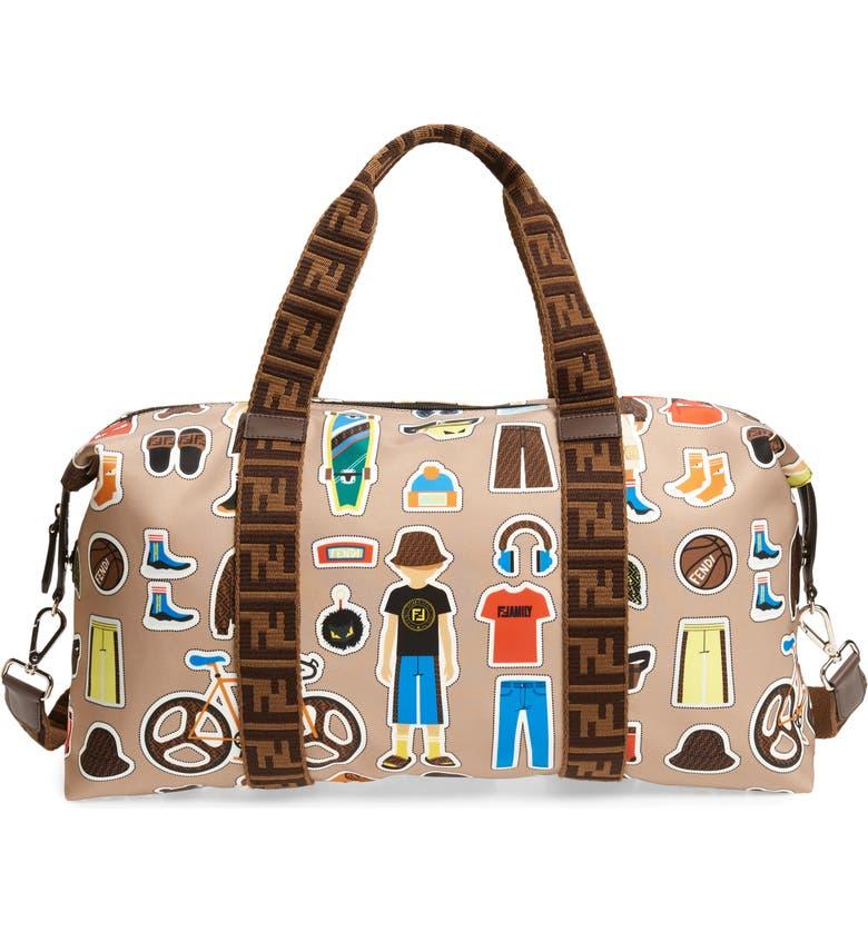 FENDI People Diaper Bag, Main, color, 251