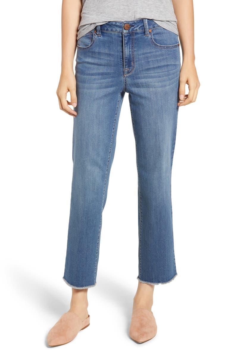 1822 DENIM Ankle Straight Leg Jeans, Main, color, 400