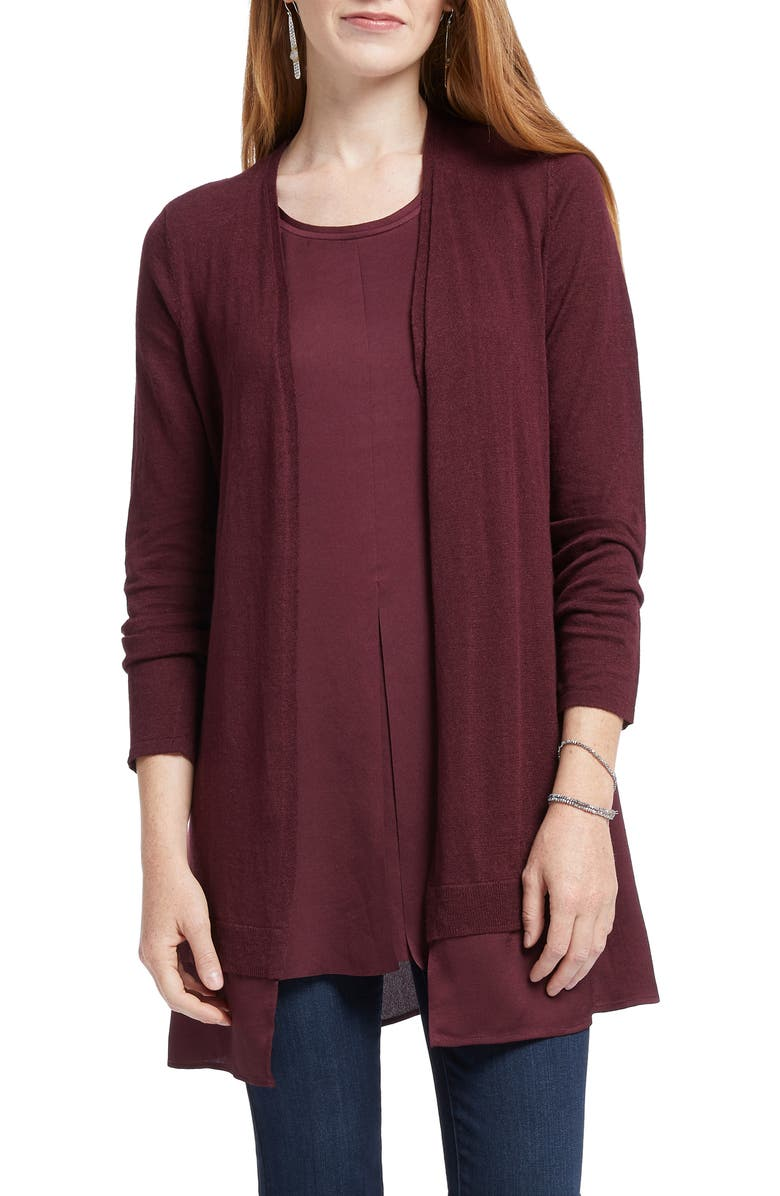 NIC+ZOE Contessa Cardigan, Main, color, PORT