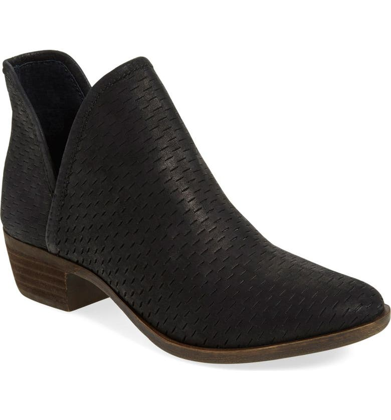 LUCKY BRAND 'Bashina' Perforated Bootie, Main, color, 001