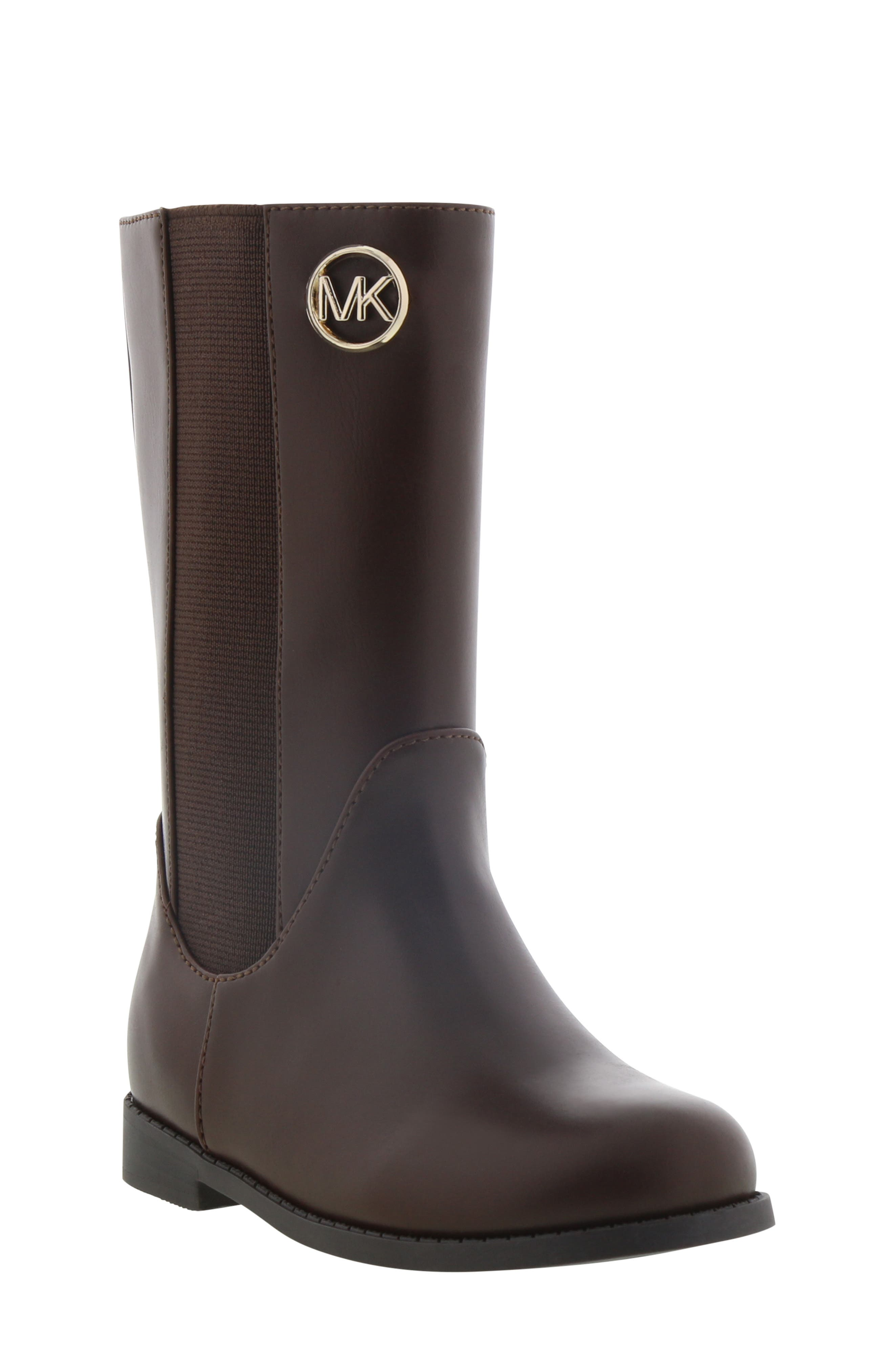 Toddler Girls Michael Michaels Kors Emma Rubie Faux Leather Tall Boot Size 6 M  Brown