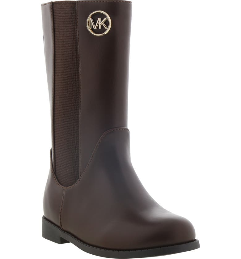 MICHAEL MICHAEL KORS MICHAEL Michaels Kors Emma Rubie Faux Leather Tall Boot, Main, color, CHOCOLATE