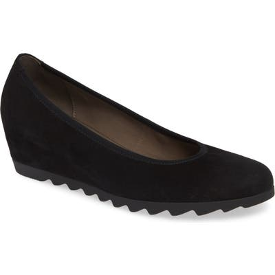 Gabor Sachetto Wedge Pump- Black