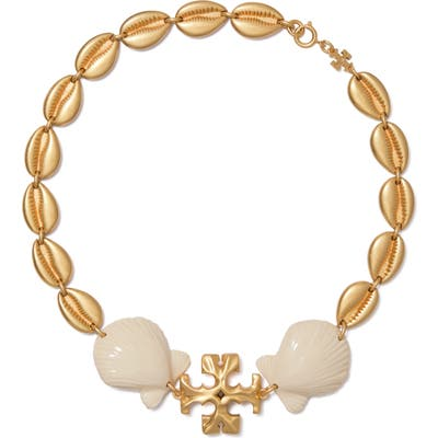 Tory Burch Shell Statement Necklace
