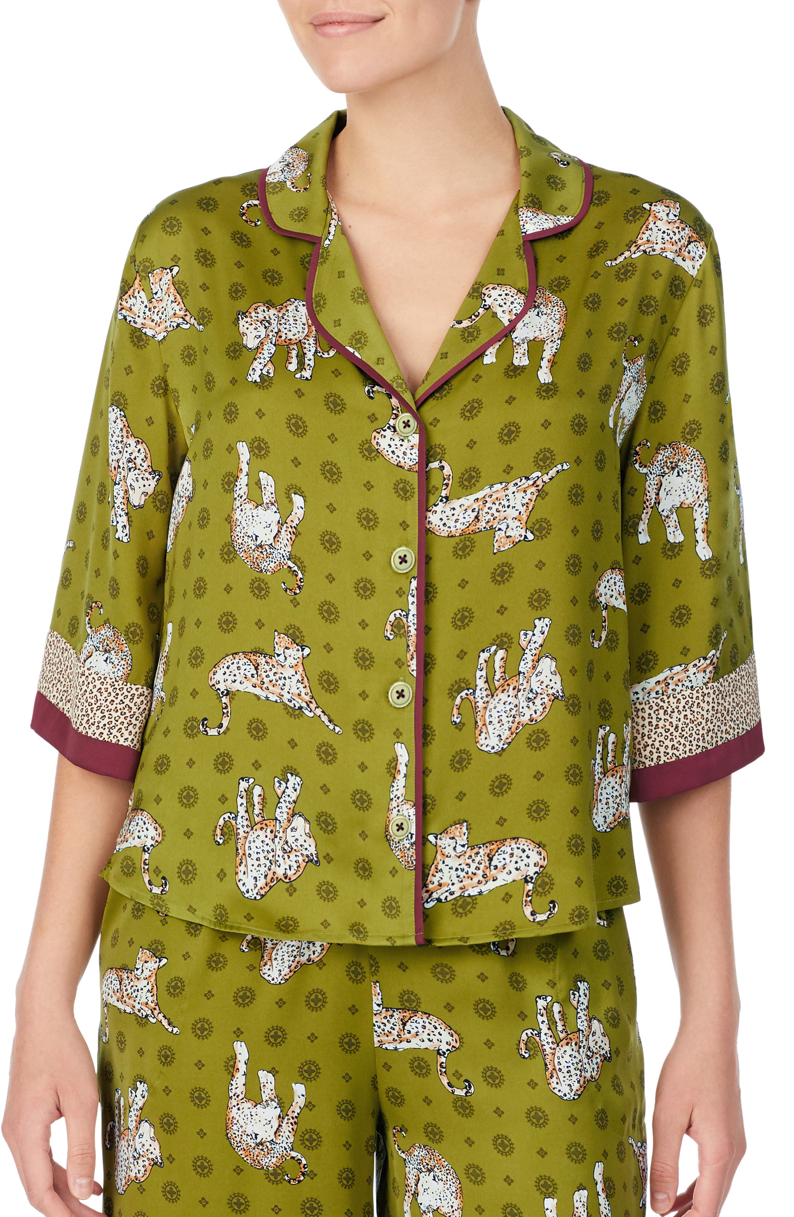 Room Service Pajama Top, Green (Nordstrom Exclusive)