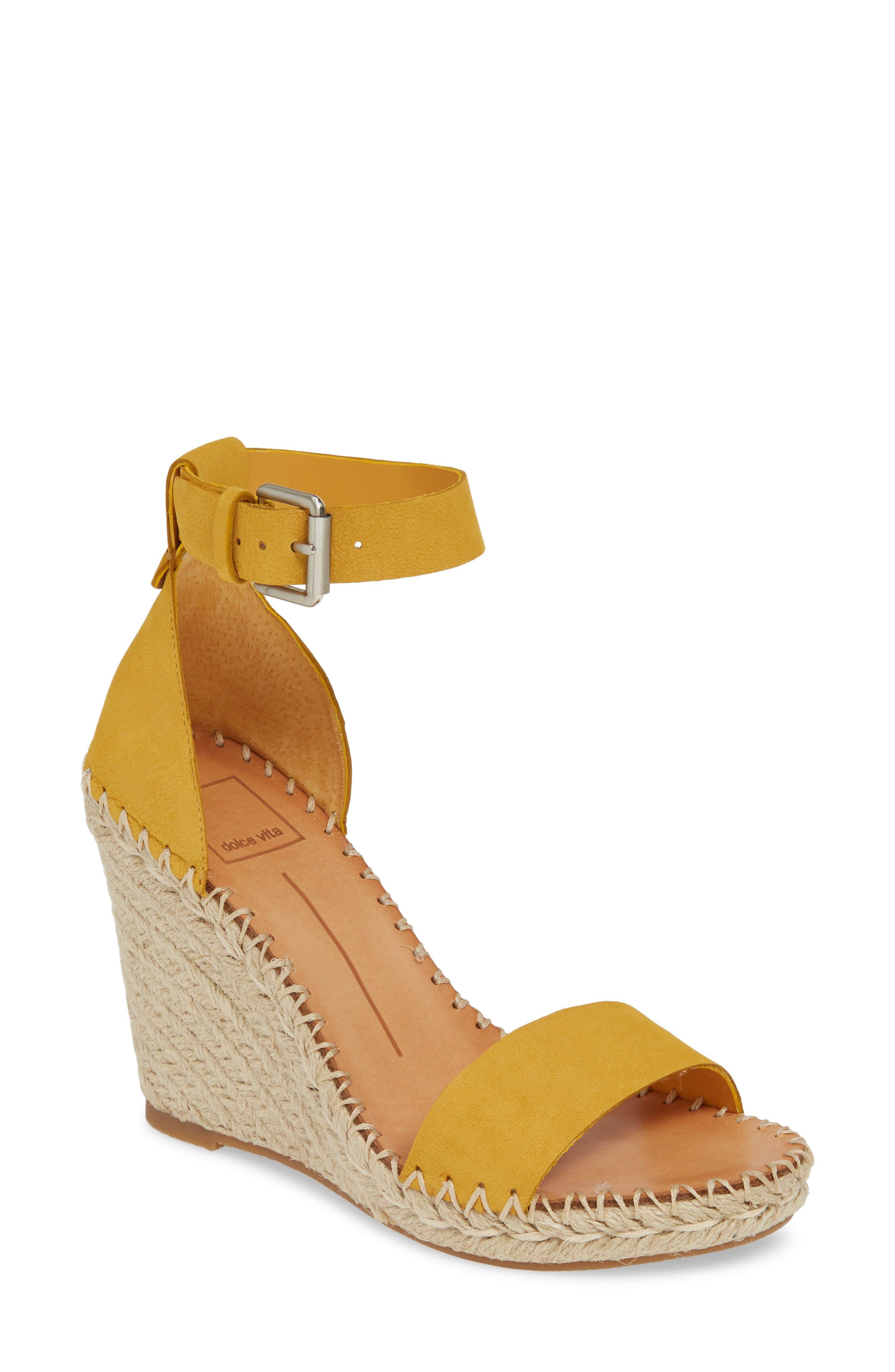 Noor Espadrille Wedge Sandal, Main, color, HONEY NUBUCK