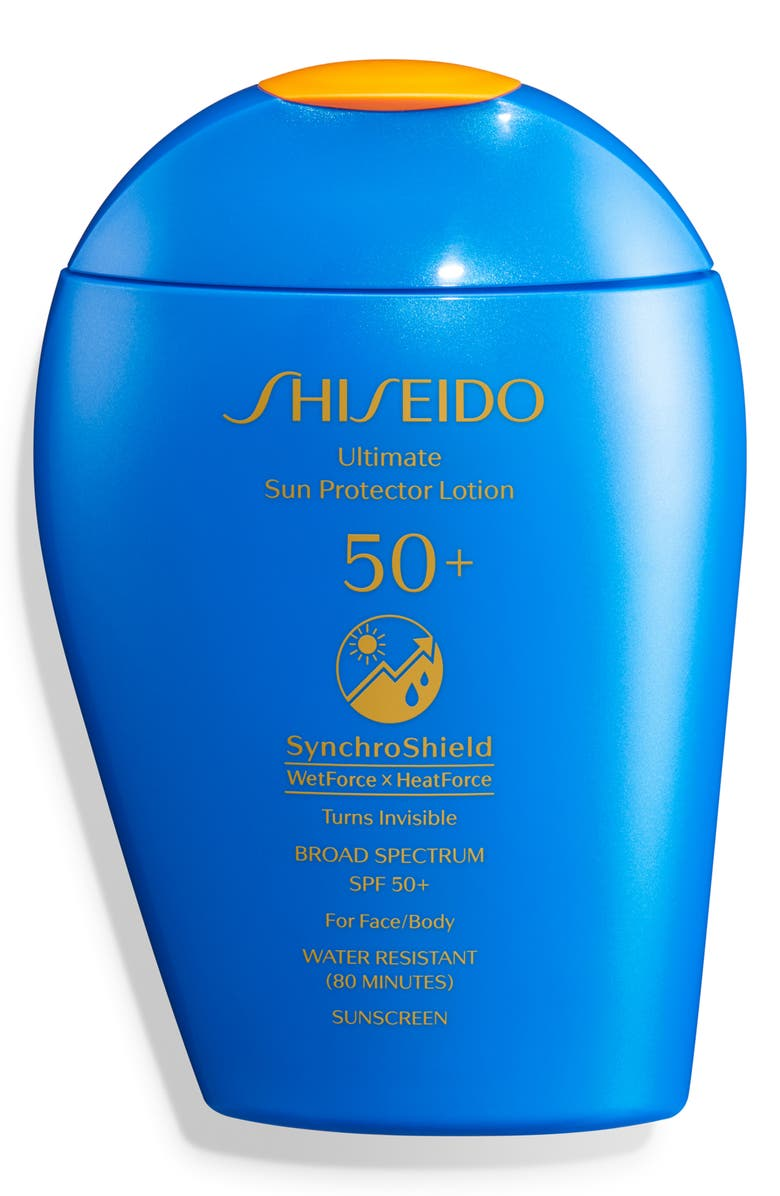 SHISEIDO Ultimate Sun Protector Lotion SPF 50+, Main, color, NO COLOR