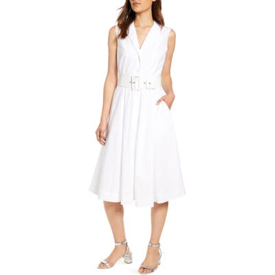 J.crew Sleeveless A-Line Shirtdress With Removable Belt, 2 (similar to 2) - White