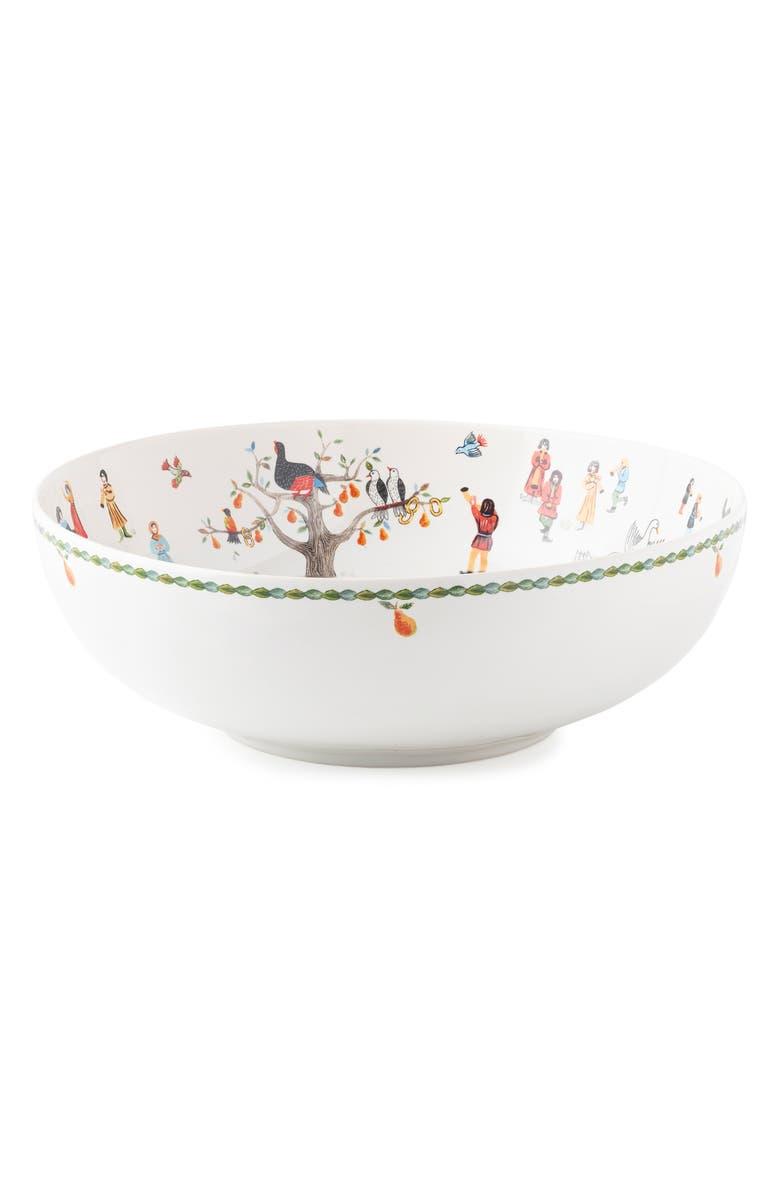 JULISKA Twelve Days of Christmas Serving Bowl, Main, color, WHITE MULTI