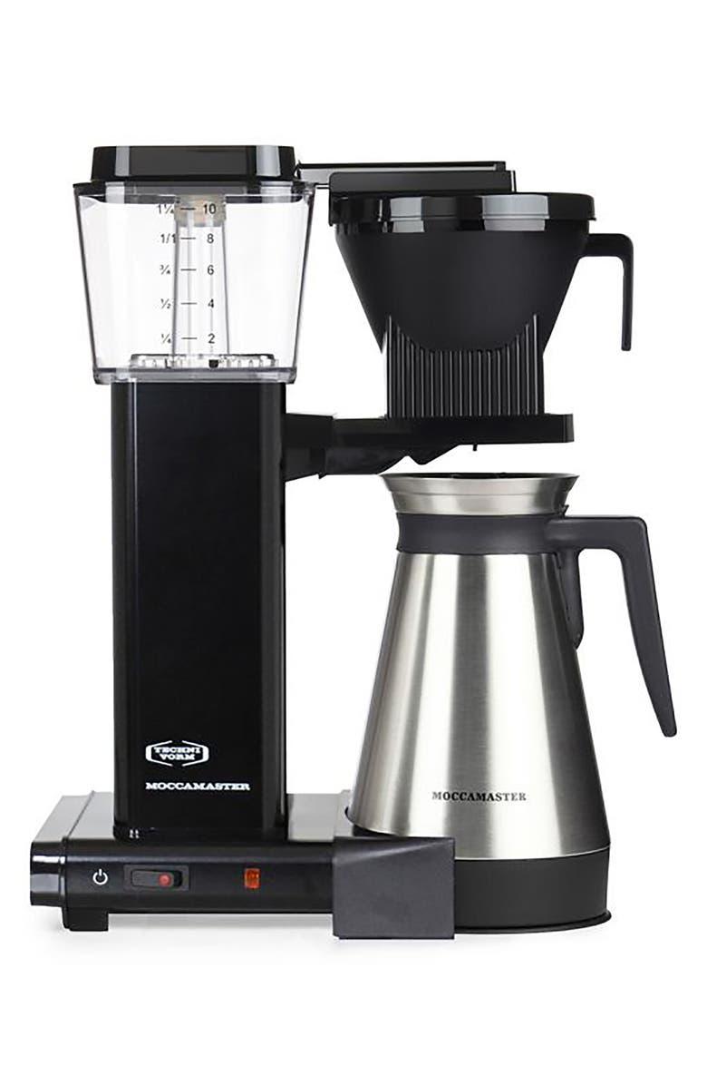 MOCCAMASTER KBGT Thermal Coffee Brewer, Main, color, BLACK