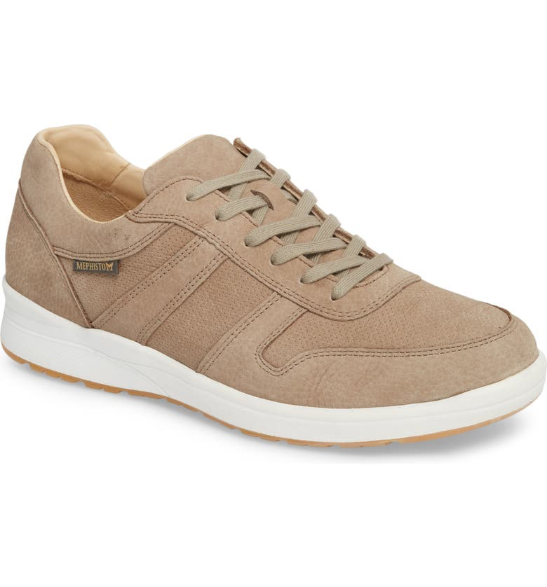 MEPHISTO Vito Perforated Sneaker, Main, color, SAND