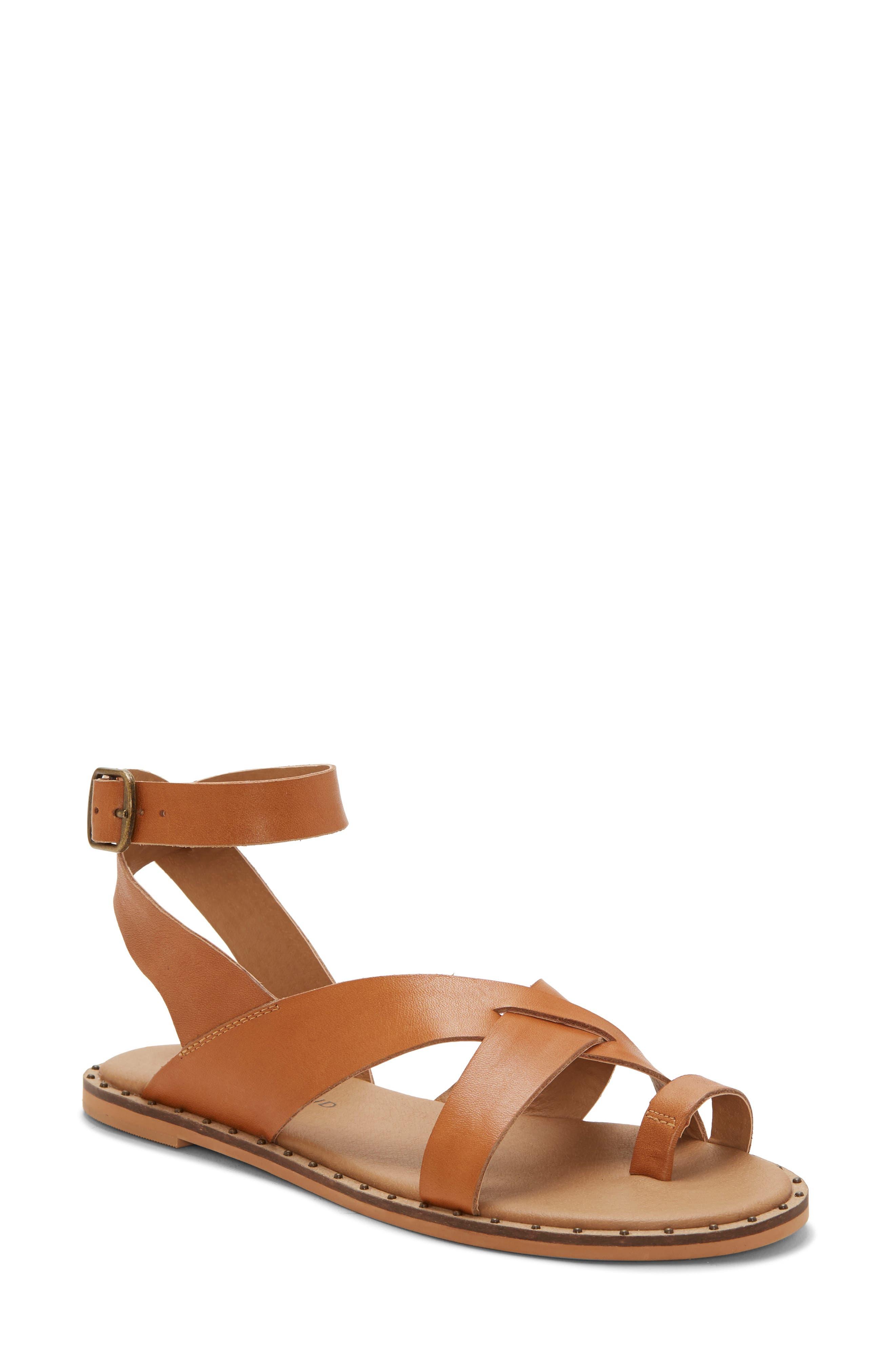 Lucky Brand Farran Toe Loop Sandal- Brown