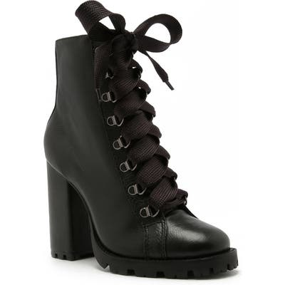 Schutz Zara Lace-Up Boot, Black