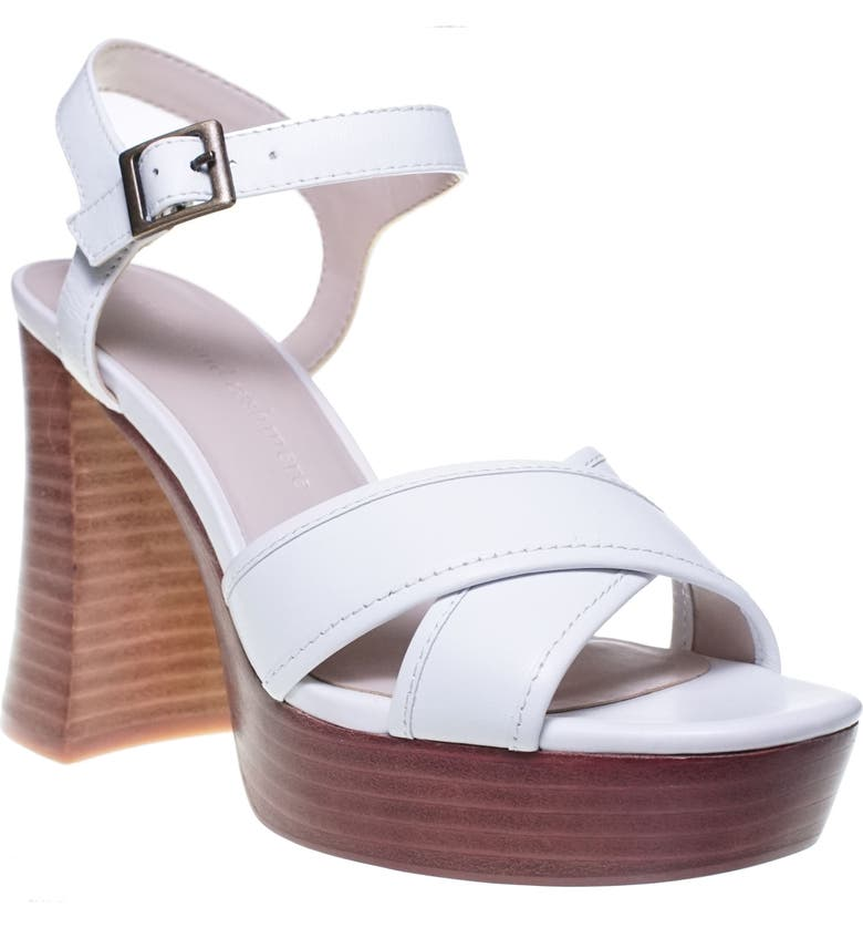 CUPCAKES AND CASHMERE Harmon Platform Sandal, Main, color, WHITE LEATHER