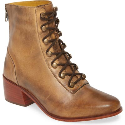Free People Eberly Lace-Up Bootie, Brown