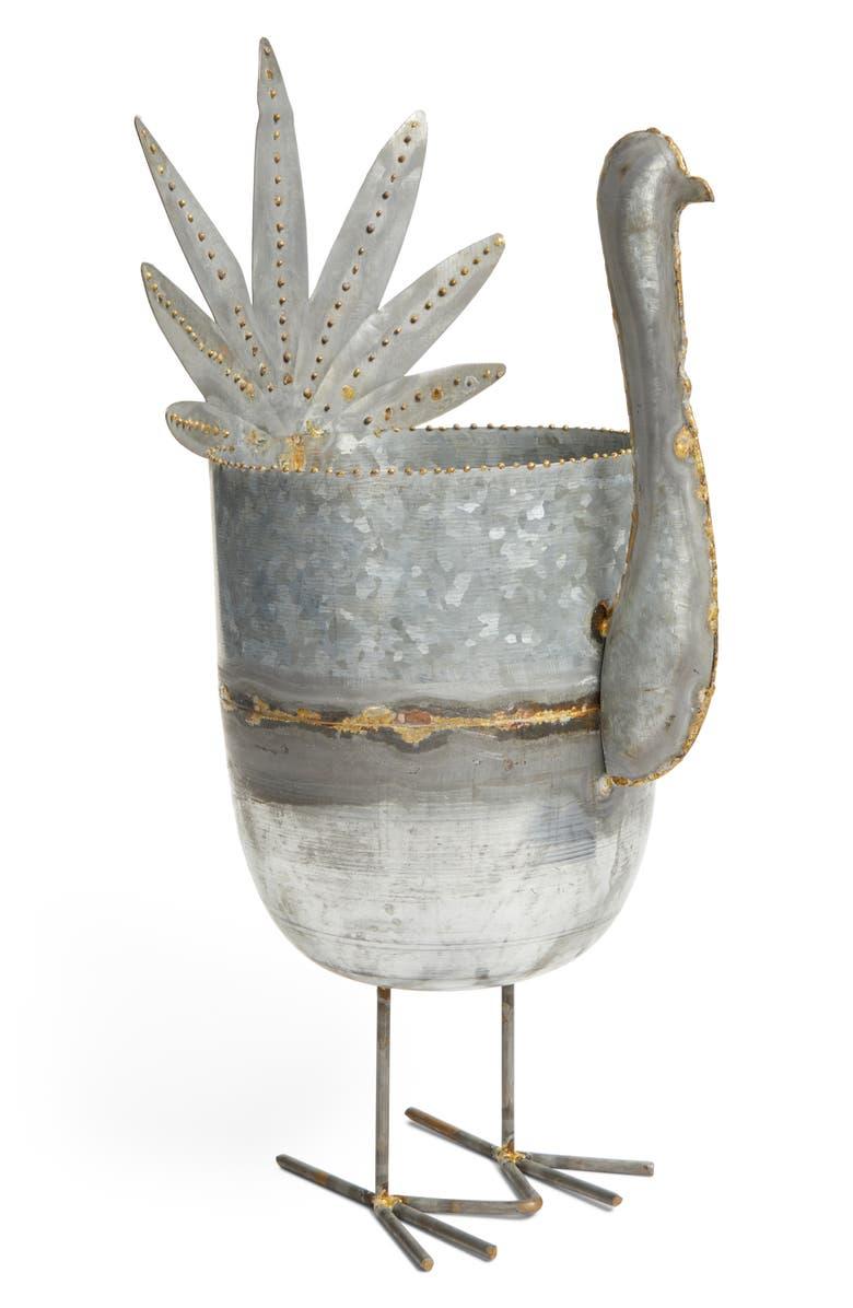 CREATIVE CO-OP Turkey Metal Bucket, Main, color, 040