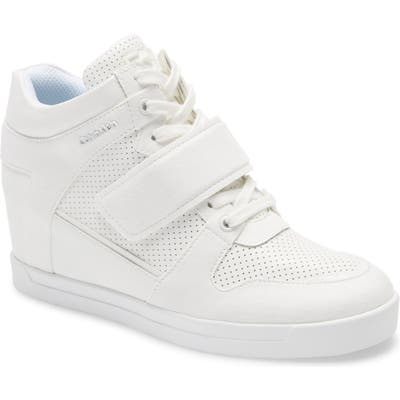 Calvin Klein Frances Wedge Sneaker, White