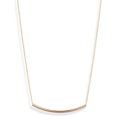 Sterling Forever Curved Bar Pendant Necklace