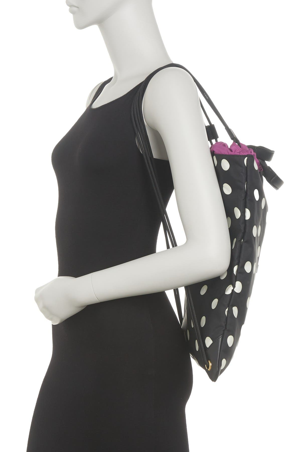 Image of Dolce & Gabbana Polka Dot Print Drawstring Bag