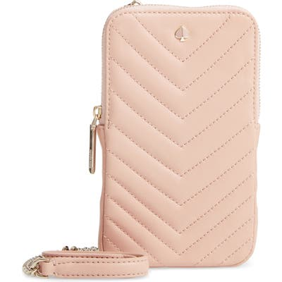 Kate Spade New York Amelia Quilted Leather Phone Crossbody Bag - Pink