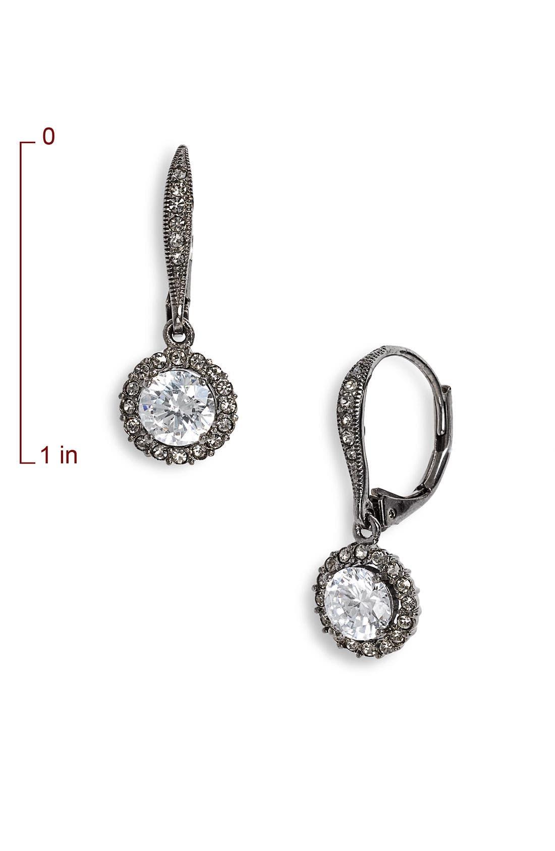 ,                             Cubic Zirconia Drop Earrings,                             Alternate thumbnail 2, color,                             001
